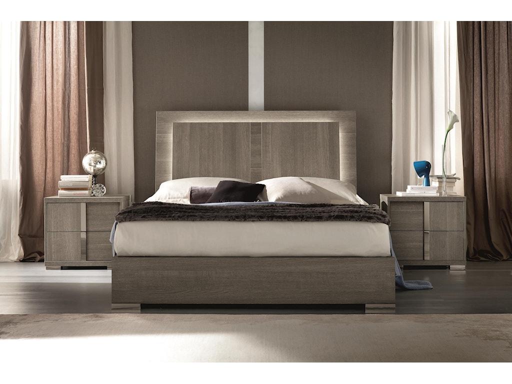 0370cb0af5 Alf Italia Tivoli King Weathered Grey Bed with LED Light and Storage ...