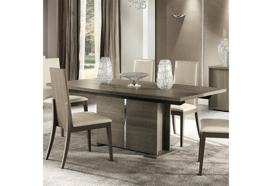 Alf Italia Tivoli Contemporary Weathered Grey 77 Dining Table With Extension Leaf Stoney Creek Furniture Dining Tables
