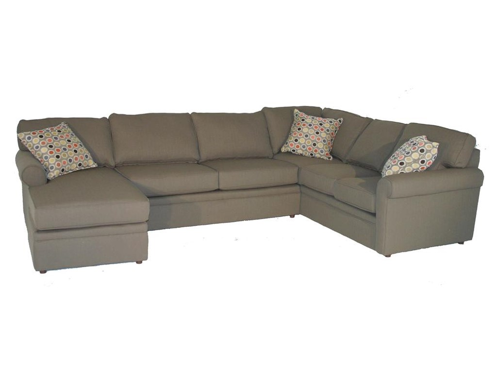 Rowe BrentwoodRolled Arm Sectional