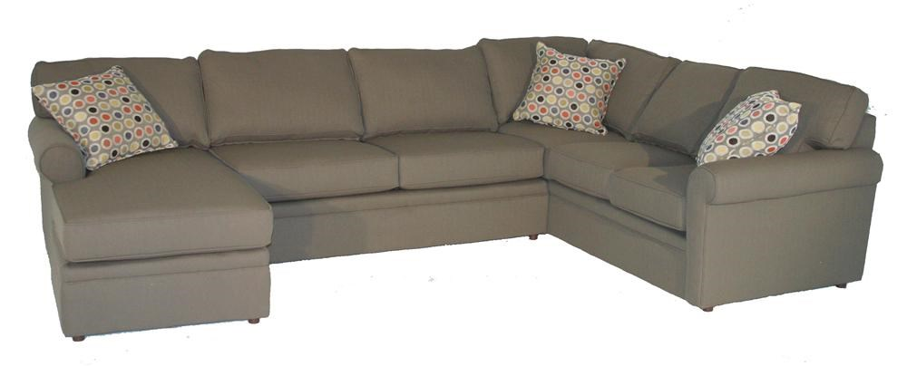 Rowe BrentwoodRolled Arm Sectional ...