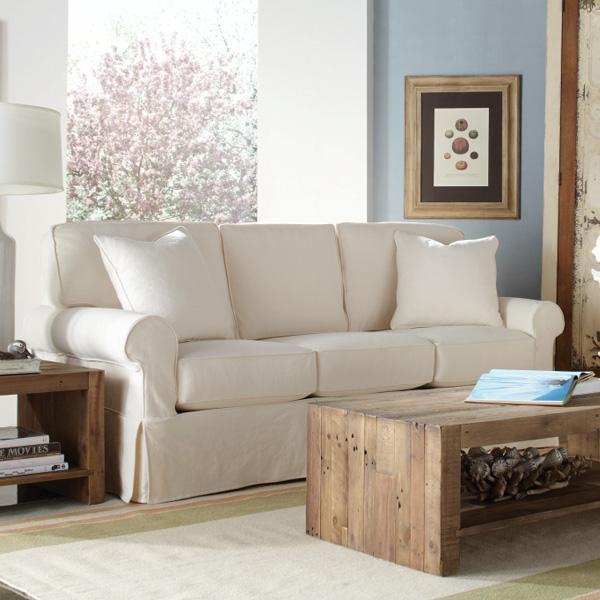 Rowe Nantucket 84 3 Cushion Slipcover Sofa Belfort Furniture Sofas