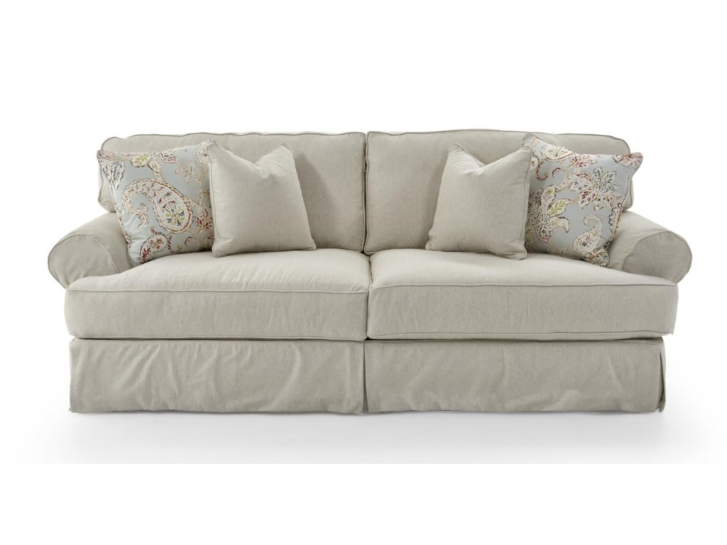 Rowe Addison Traditional 2 Seat Sofa With Slipcover