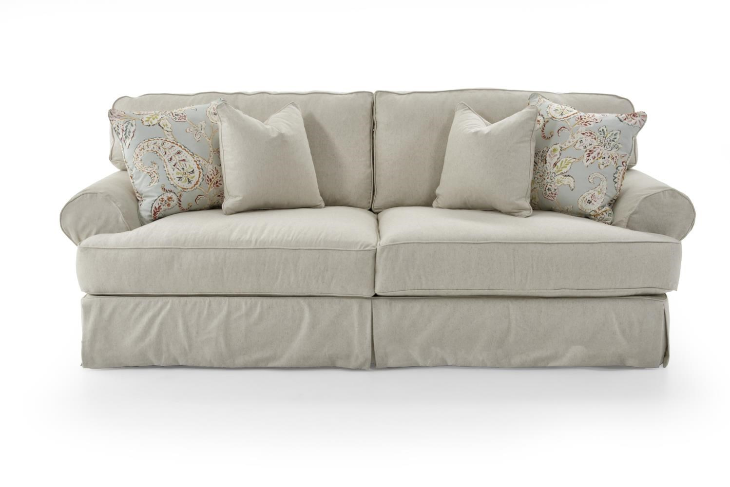 Rowe Addison Traditional 2 Seat Sofa With Slipcover ...