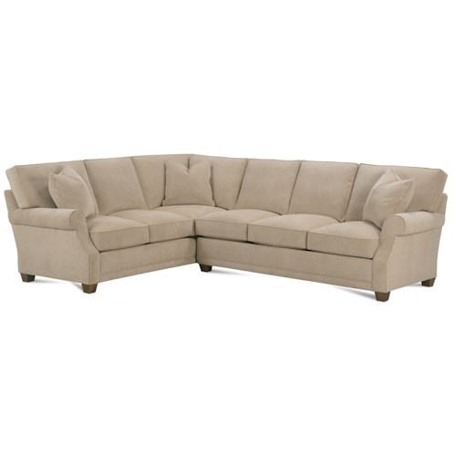 Rowe Baker Transitional Sectional Sofa