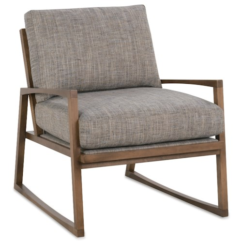 Rowe Beckett Modern Wood Frame Chair