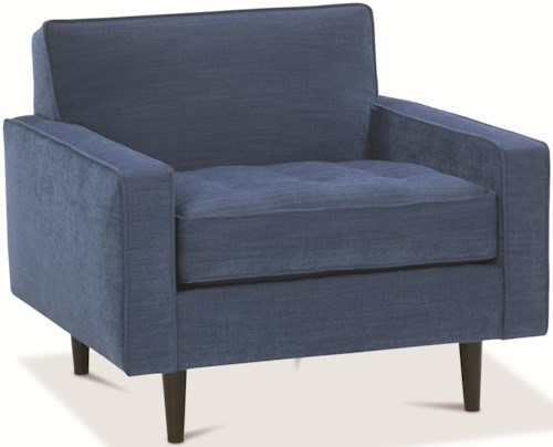 Rowe Brady  Contemporary Chair with Track Arms