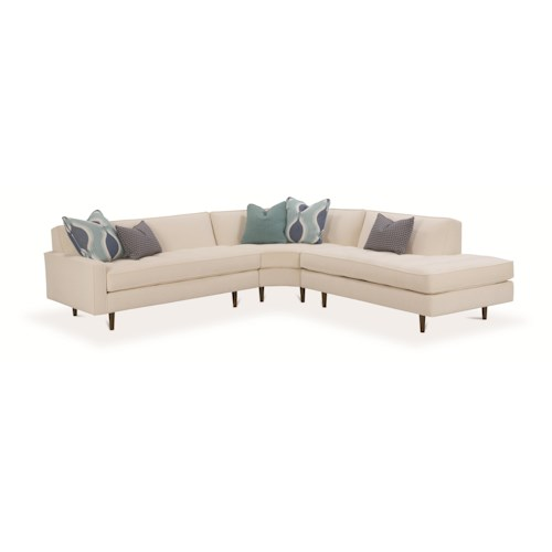 Rowe Brady  Contemporary 3 Piece Sectional Sofa
