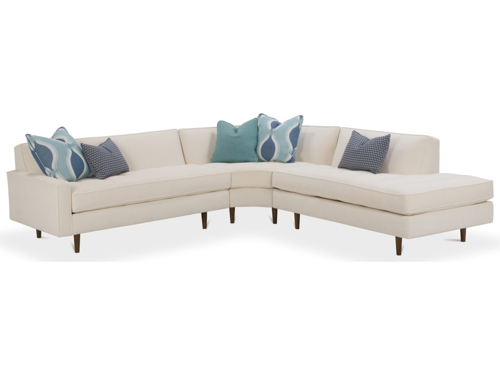 Rowe Sectional Sofas Rowe Easton Casual Sectional Sofa