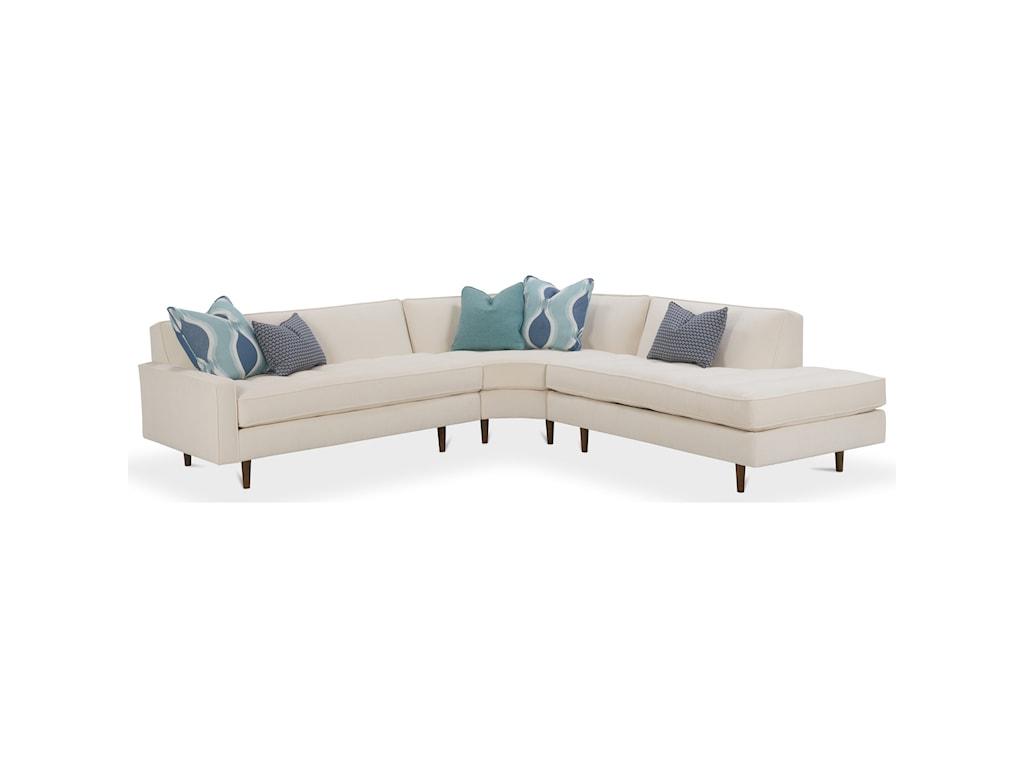Rowe Brady Contemporary 3 Piece Sectional Sofa