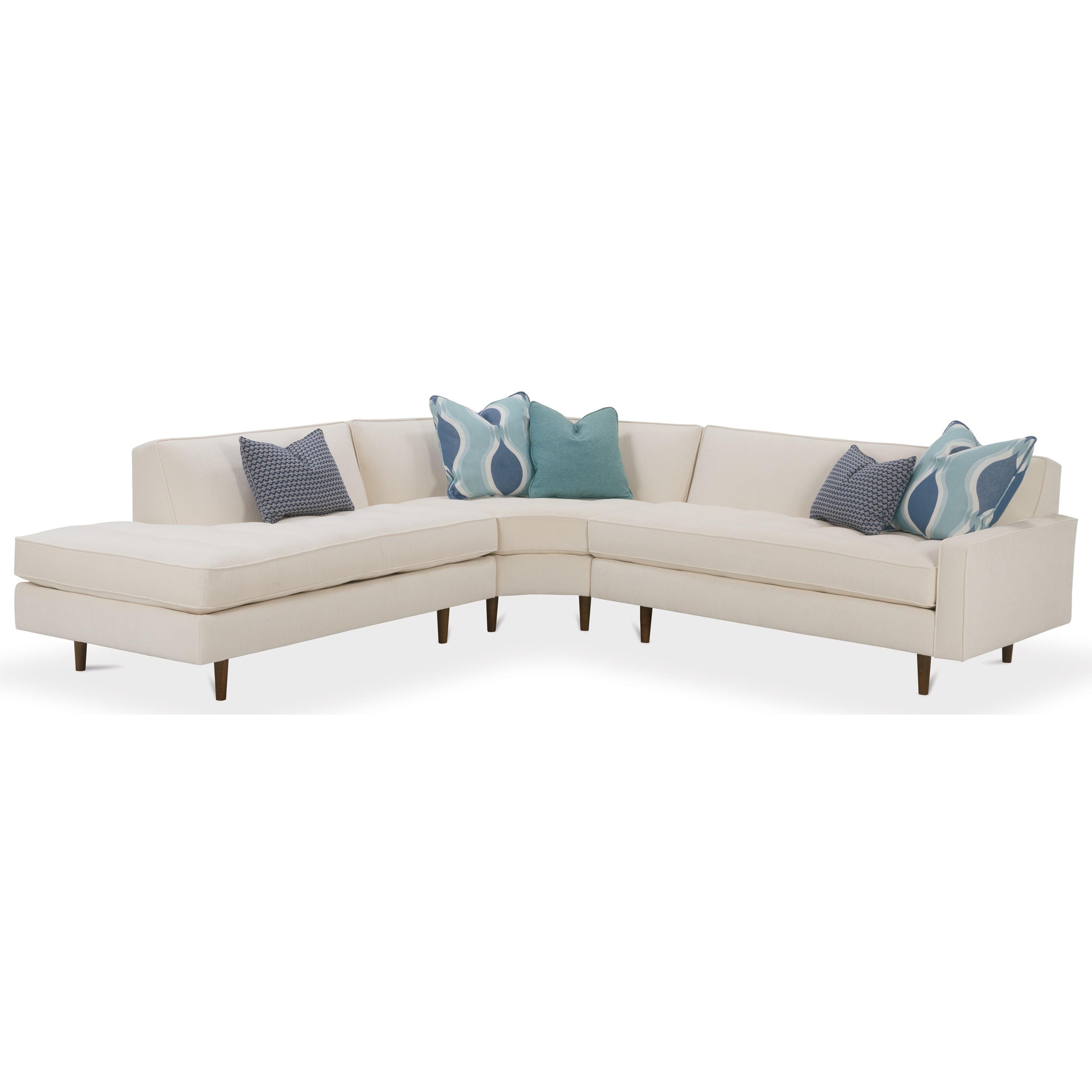 Rowe Brady Contemporary 3 Piece Sectional Sofa ...