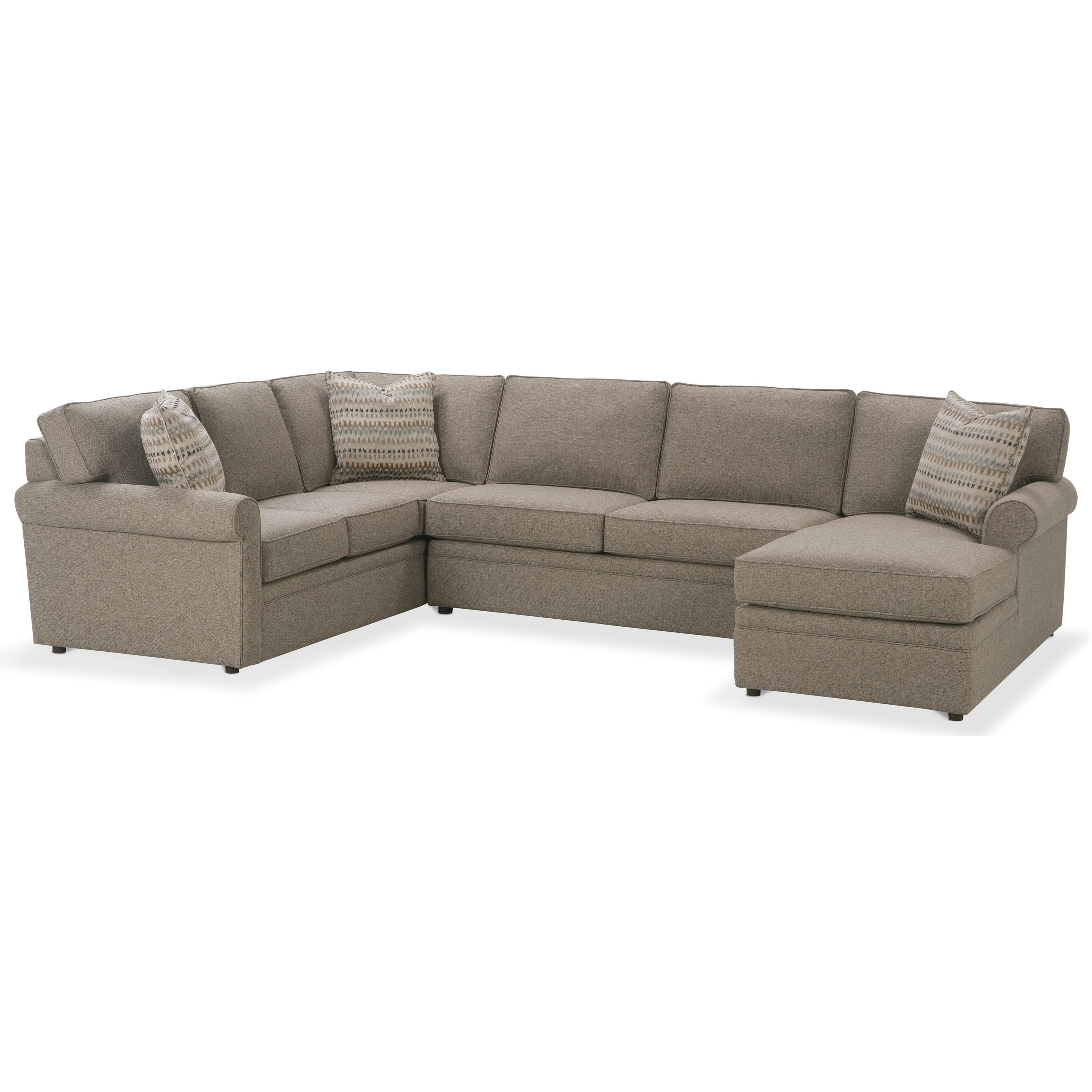 Rowe Brentwood Transitional Sectional Sofa with Chaise - Baeru0027s Furniture - Sectional Sofas  sc 1 st  Baeru0027s Furniture : rowe sectional sofas - Sectionals, Sofas & Couches