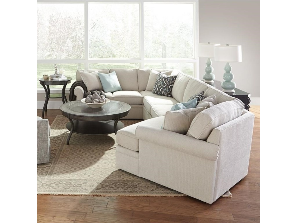 Rowe brentwoodtransitional cuddler sectional sofa