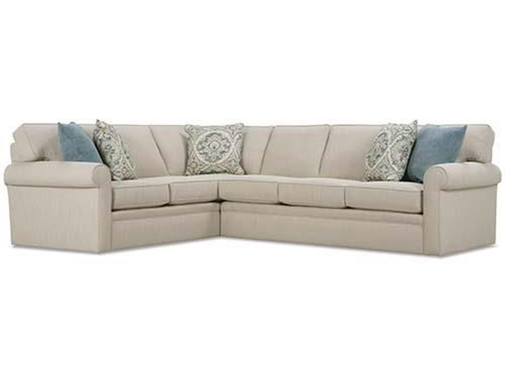Rowe Brentwood Rolled Arm Sectional Sofa | Sprintz Furniture ...