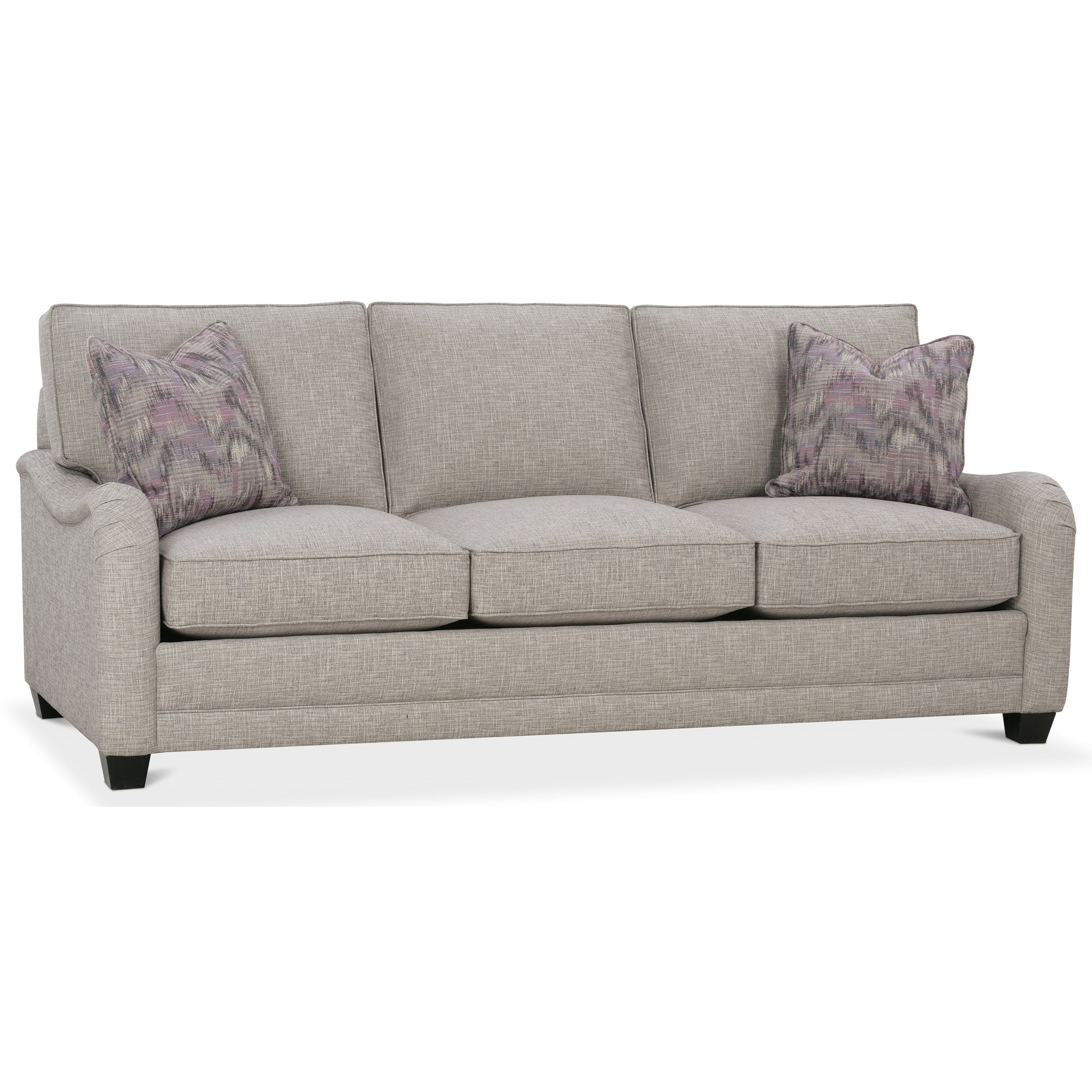 Nantucket 2 seat slipcover queen sleeper sofa rowe furniture rowe - Rowe My Style I Sofa With English Arms Tapered Legs And Knife Style Back