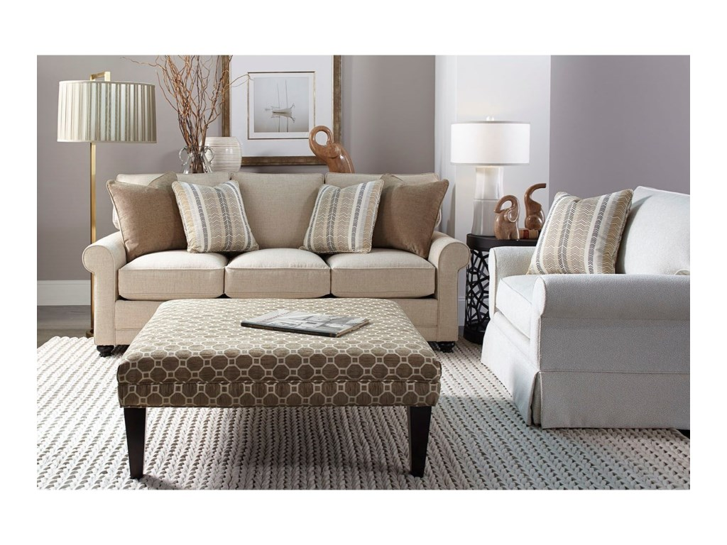 Rowe My Style ITransitional Stationary Sofa