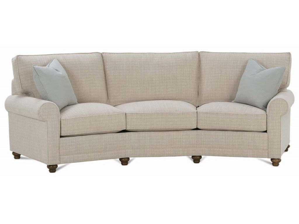 Rowe My Style I Customizable Conversation Sofa With Rolled