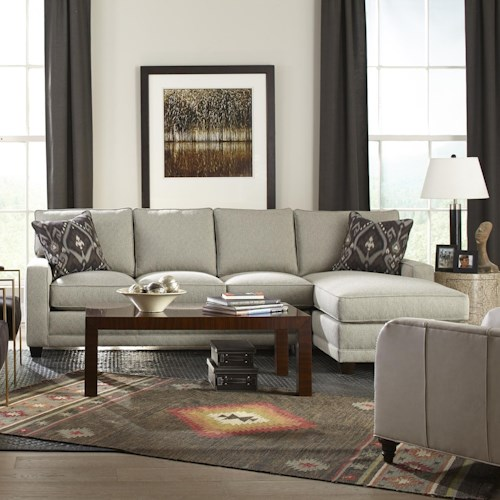 Rowe My Style Contemporary Sectional Sofa with Chaise