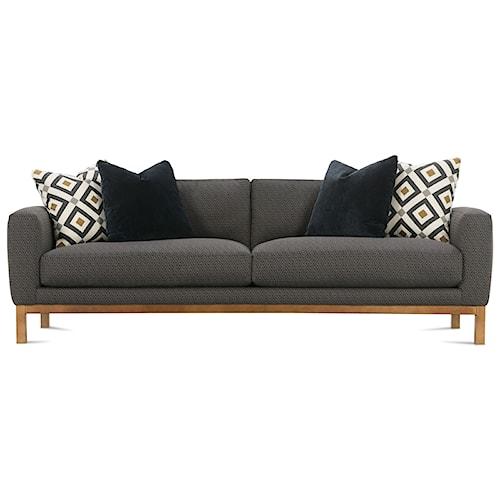 Rowe Butler Contemporary Wood Base Sofa