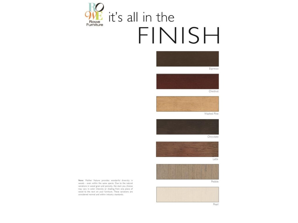 Customize Your Furniture With Your Choice of Wood Finish on Exposed Wood Legs