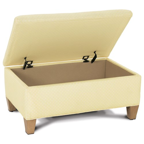 Rowe Chairs and Accents Hess Rectangular Storage Ottoman