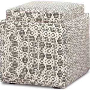 Rowe Chairs And Accents Nelson Cube Ottoman With Storage Sprintz Furniture Ottomans