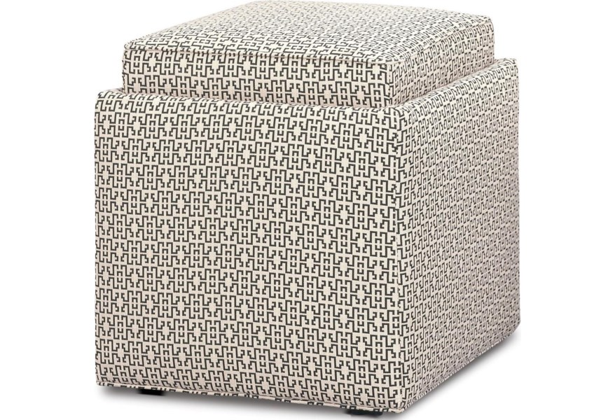 on sale 52402 e9c70 Rowe Chairs and Accents Nelson Cube Ottoman with Storage ...