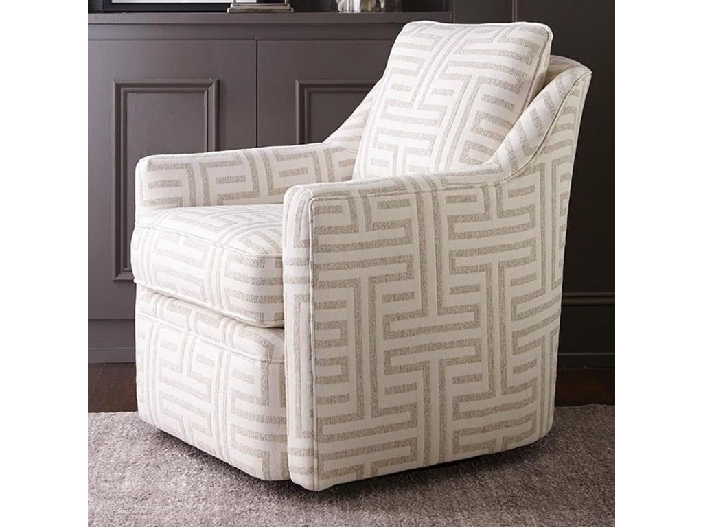 Rowe Hollins Casual Swivel Chair with Loose Pillow Cushion ...