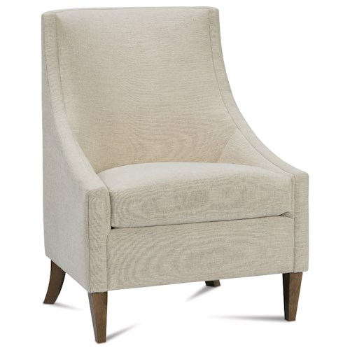 Rowe Chairs and Accents Dixon Accent Chair with Sloping Low Profile Arms