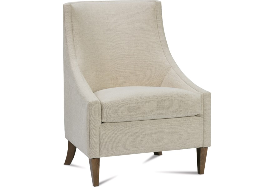 Rowe Chairs and Accents Dixon Accent Chair with Sloping Low ...