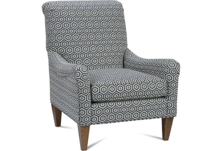 Chairs and Accents Highland Upholstered Chair by Rowe at Johnny Janosik