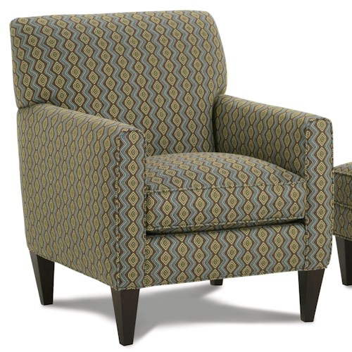 Rowe Chairs and Accents Willet Upholstered Chair with Track Arms