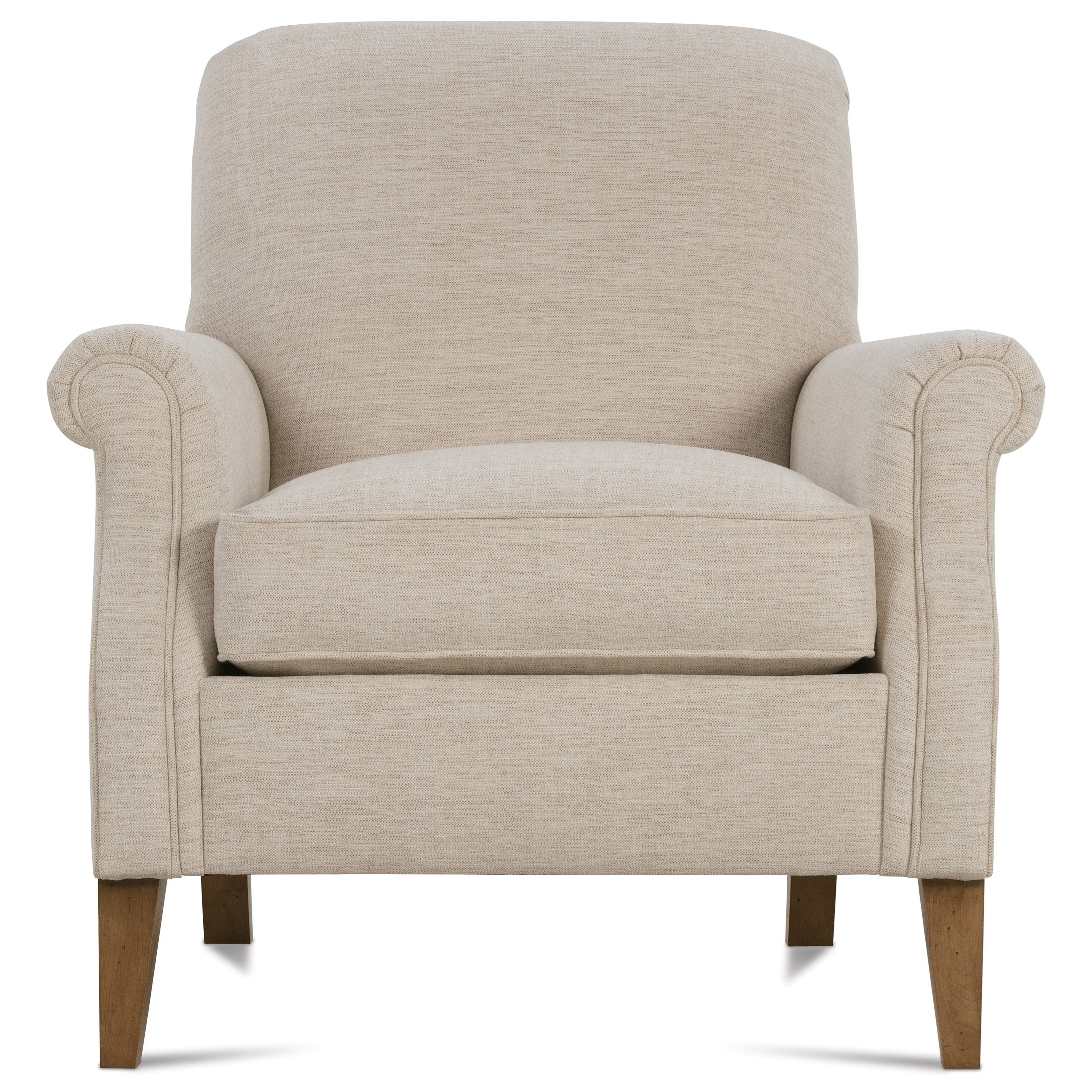 Rowe Channing Transitional Chair With Rolled Arms And Tight Seat Back |  Belfort Furniture | Upholstered Chairs
