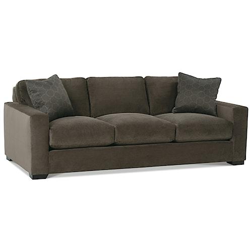 Rowe Dakota Three Cushion Contemporary Sofa