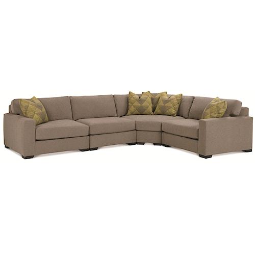 Rowe Dakota 4 Piece Contemporary Sectional Sofa