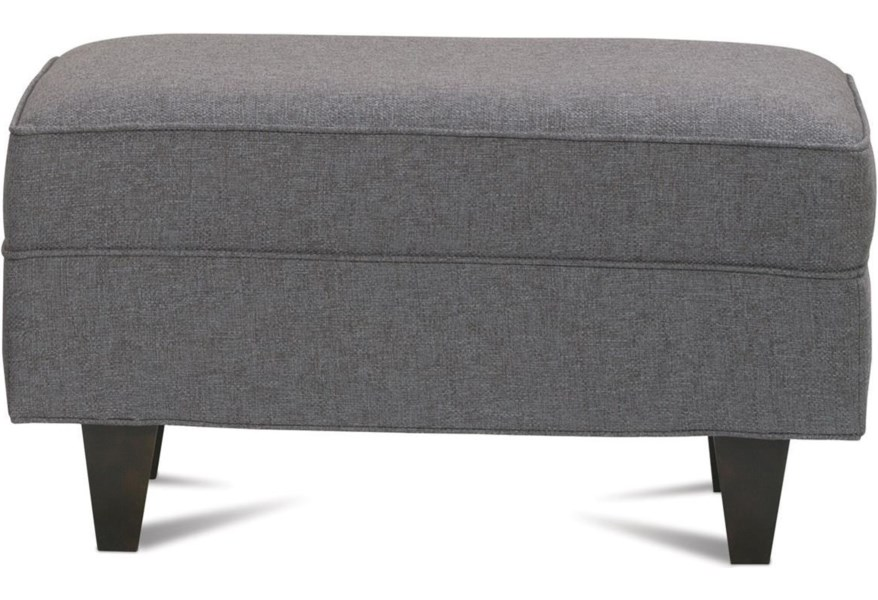 Pleasing Rowe Dorset Ottoman With Exposed Wood Legs Sprintz Caraccident5 Cool Chair Designs And Ideas Caraccident5Info