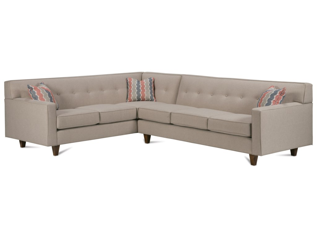 Rowe Dorset Corner Sectional with Tufted Back | Steger\'s ...