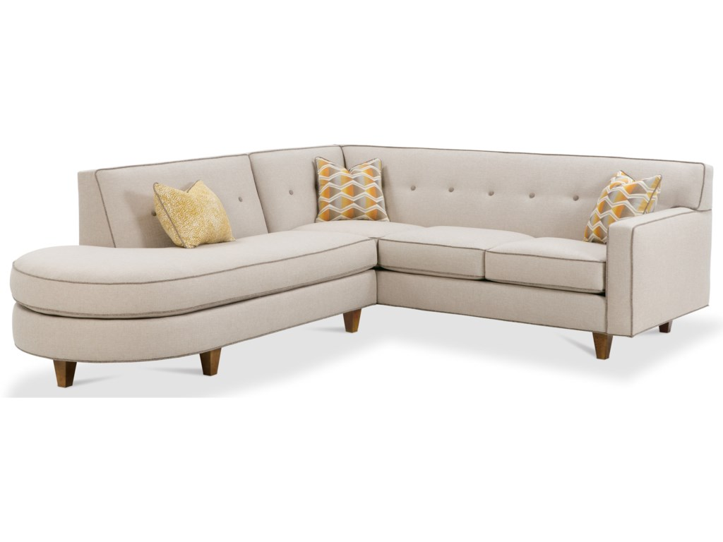 Rowe Dorset Contemporary 2 Piece Sectional Sofa With Tufted