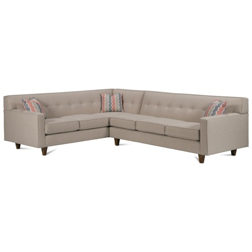 Rowe Dorset Corner Sectional with Chrome Legs