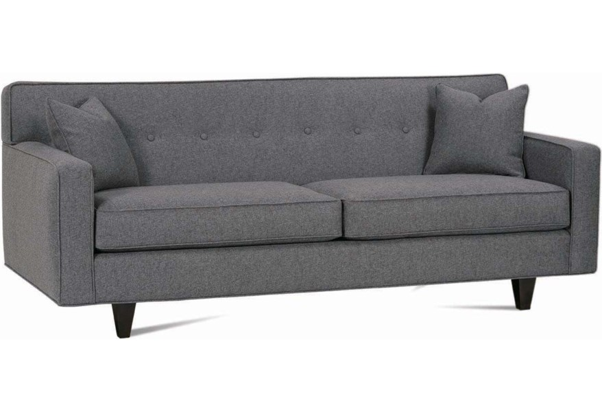 Dorset Contemporary 80 2 Cushion Sofa With Track Arms By Rowe At Steger S Furniture