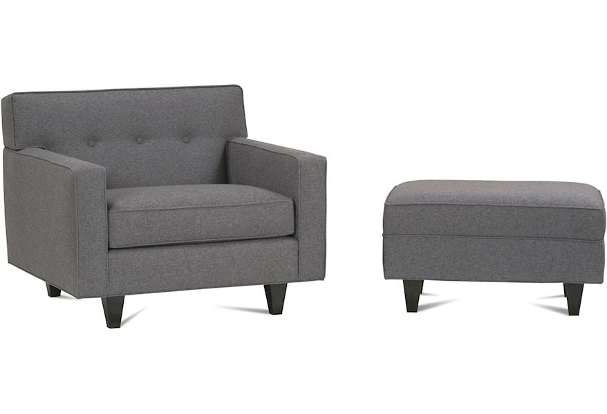 Admirable Rowe Dorset Upholstered Chair With Button Tufted Back Frankydiablos Diy Chair Ideas Frankydiabloscom
