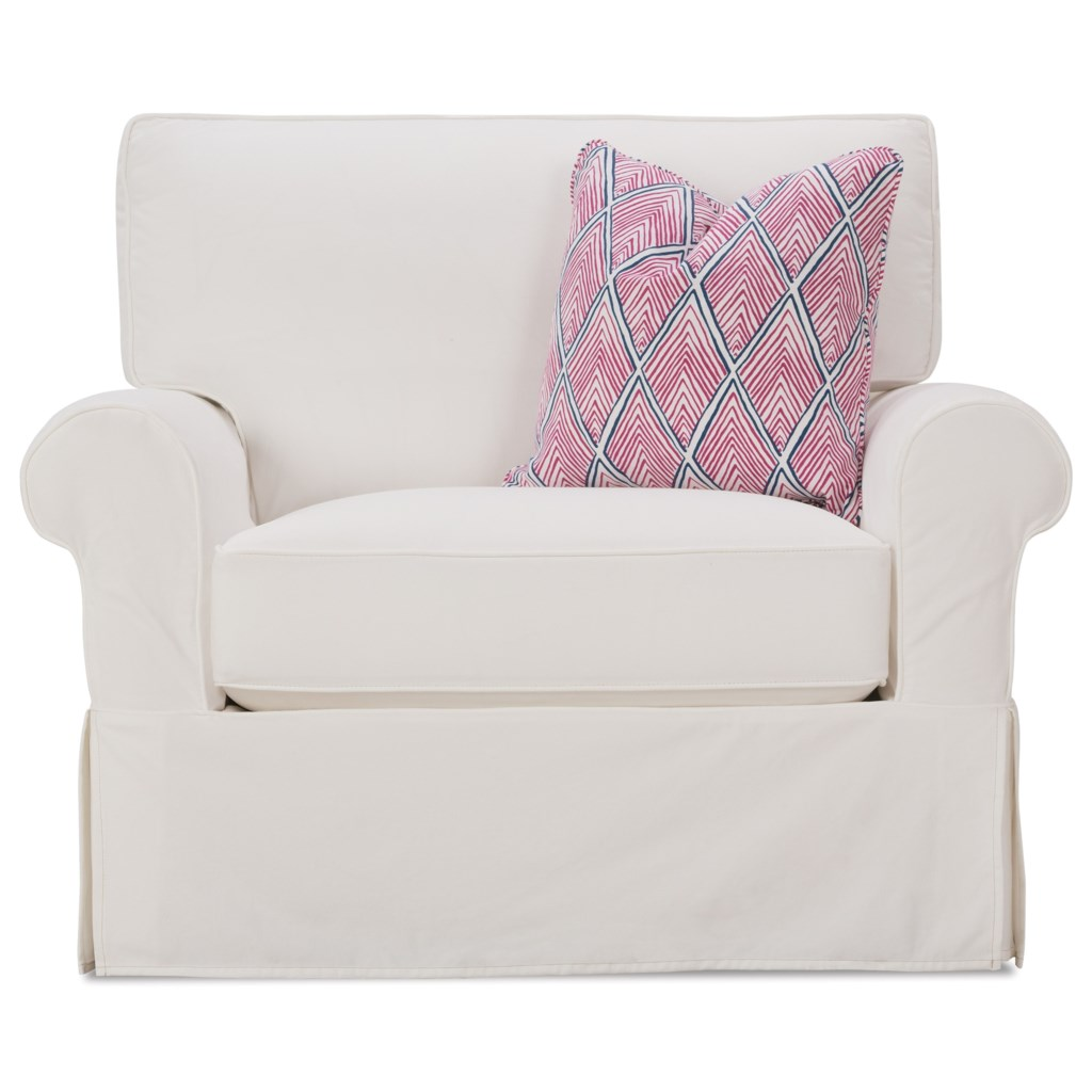 Rowe Easton Casual Chair And A Half With Slipcover Belfort