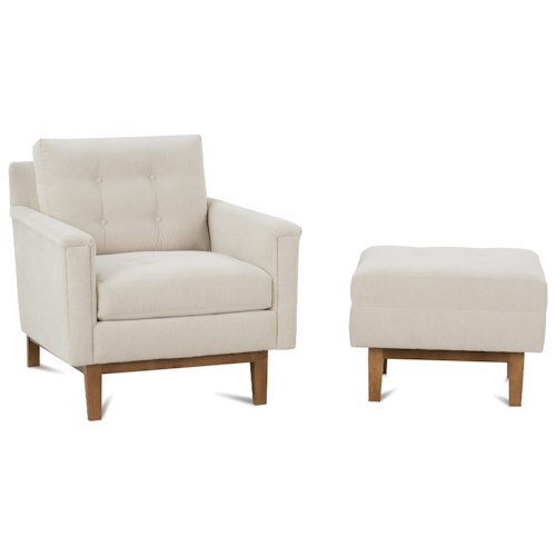Rowe Ethan  Mid-Century Modern Chair and Ottoman Set