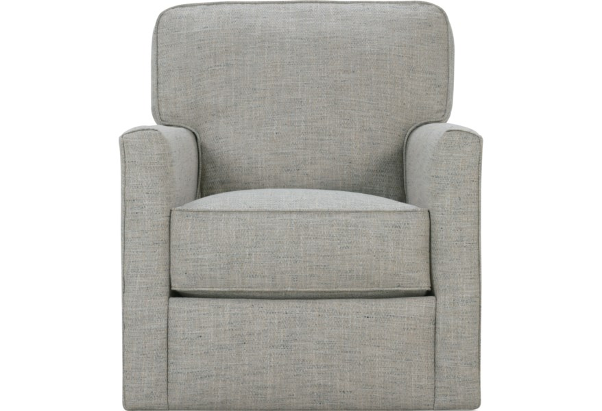 Rowe Evan Contemporary Swivel Chair | Steger\'s Furniture ...