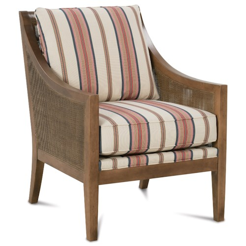 Rowe Finley Casual Accent Chair with Woven Wood Bands