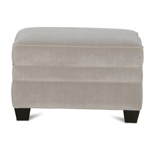 Rowe Fuller Transitional Chair Ottoman