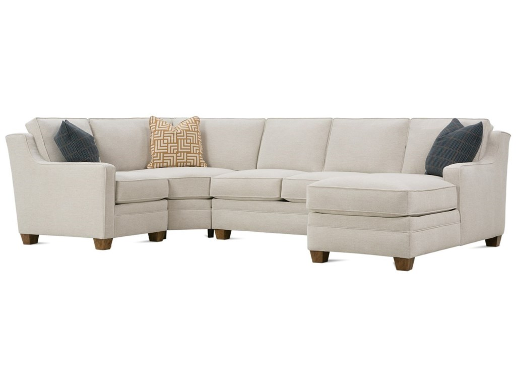 Rowe Fuller4-Piece Sectional with RAF Chaise