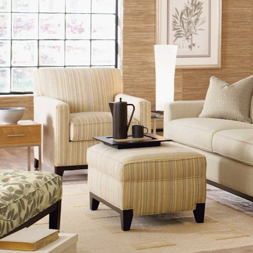 Rowe Martin Upholstered Chair and Ottoman