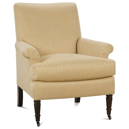 Rowe Hannah Traditional Accent Chair with Rolled Arms and Tight Seat Back