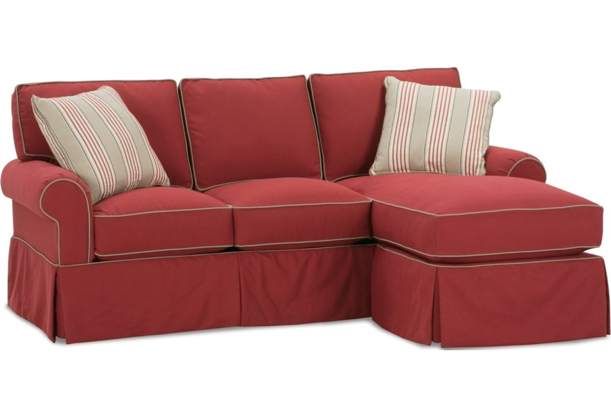 Rowe Hermitage Upholstered Sofa With Chaise Ottoman