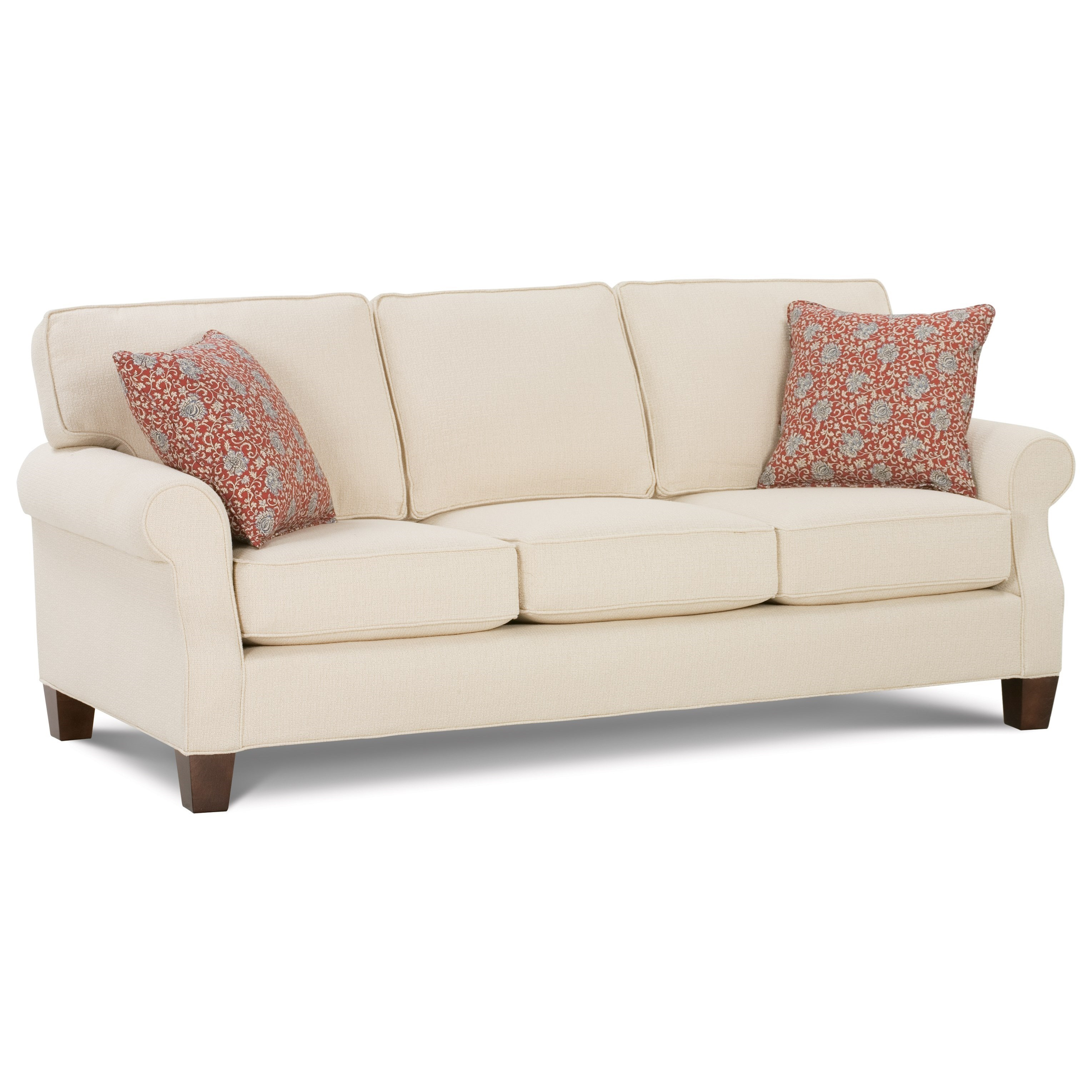 Nantucket 2 seat slipcover queen sleeper sofa rowe furniture rowe - Rowe Kimball Sofa With Rolled Arms U0026 Exposed Wood Legs Mitchell 2seat